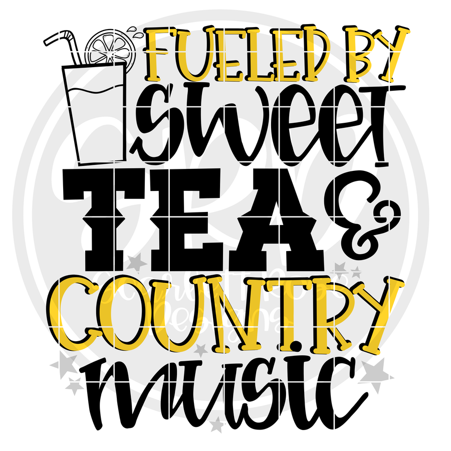 Fueled by Sweet Tea and Country Music SVG