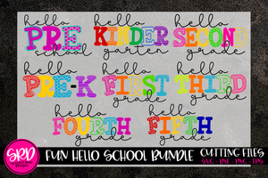 Fun Hello School SVG Bundle