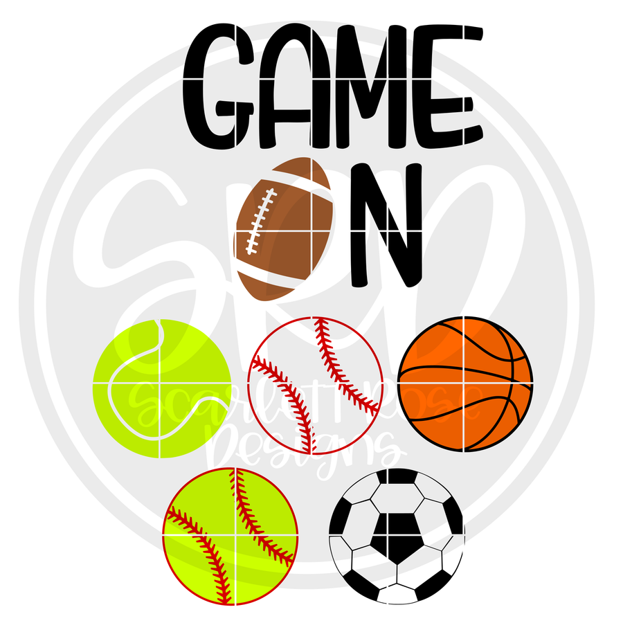 Game On - Sports Balls SVG