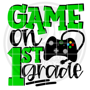Game On 1st Grade SVG - Green