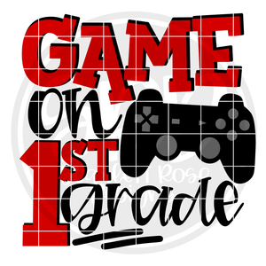 Game On 1st Grade SVG - Red