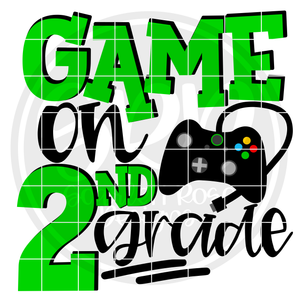 Game On 2nd Grade SVG - Green
