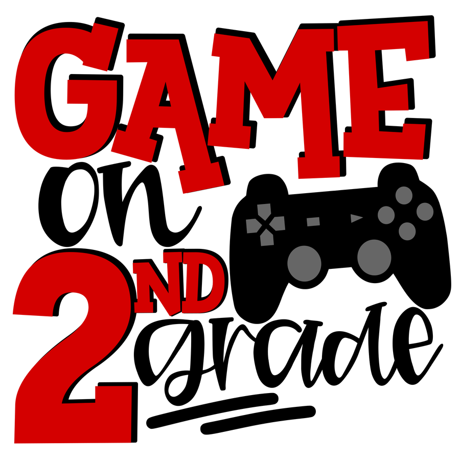 Game On 2nd Grade SVG - Red
