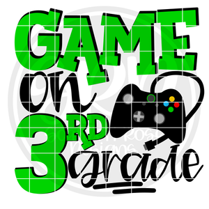 Game On 3rd Grade SVG - Green