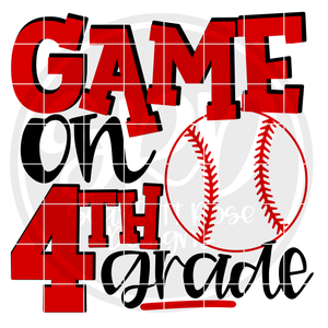Game On 4th Grade SVG - Baseball