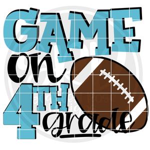 Game On 4th Grade SVG - Football