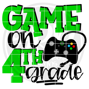 Game On 4th Grade SVG - Green