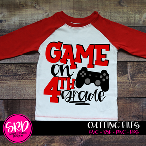 Game On 4th Grade SVG - Red