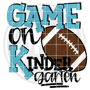 Game On Kindergarten SVG - Football