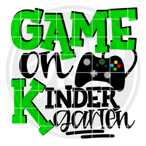 Game On Kindergarten SVG - Green