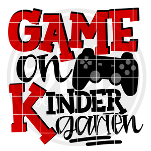 Game On Kindergarten SVG - Red