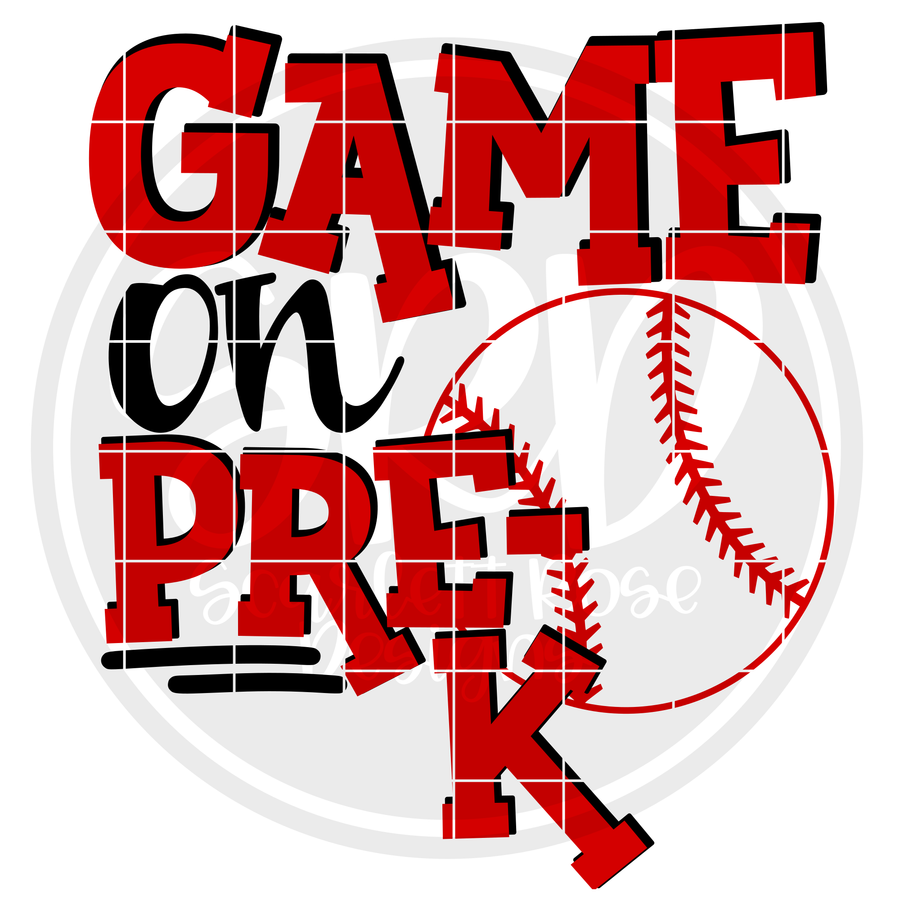 Game On Pre-K SVG - Baseball