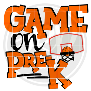 Game On PreK SVG - Basketball