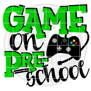 Game On Preschool SVG - Green