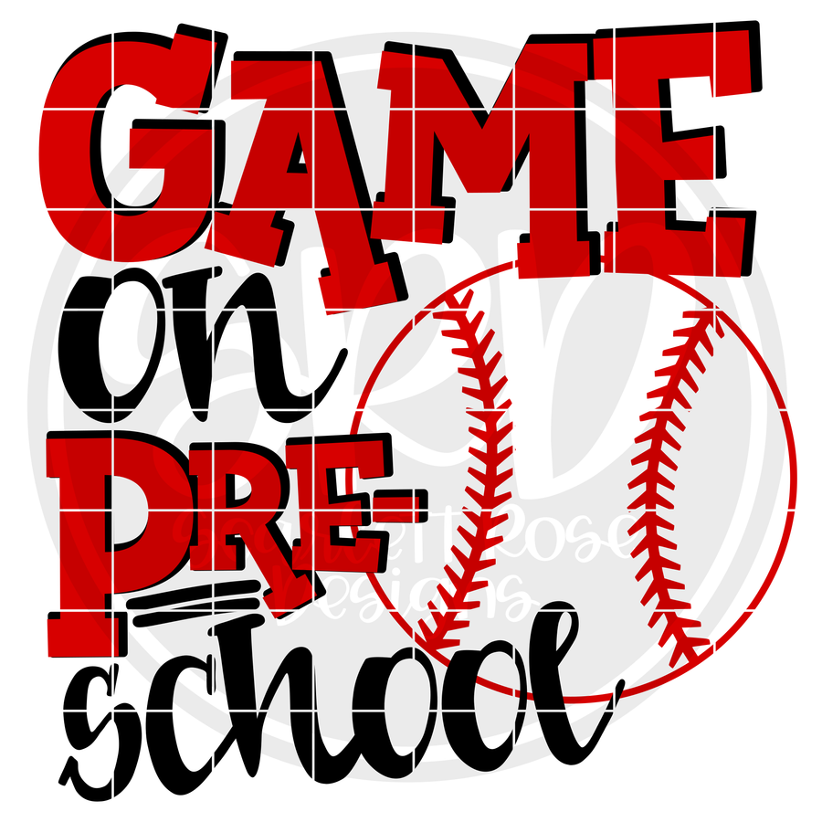 Game On Preschool SVG - Baseball