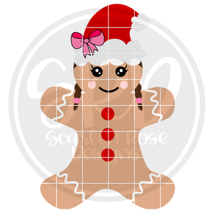 Gingerbread Girl - Color SVG