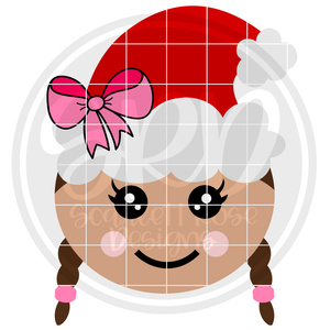 Gingerbread Girl Face - Color SVG