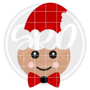 Gingerbread Man Face - Color SVG