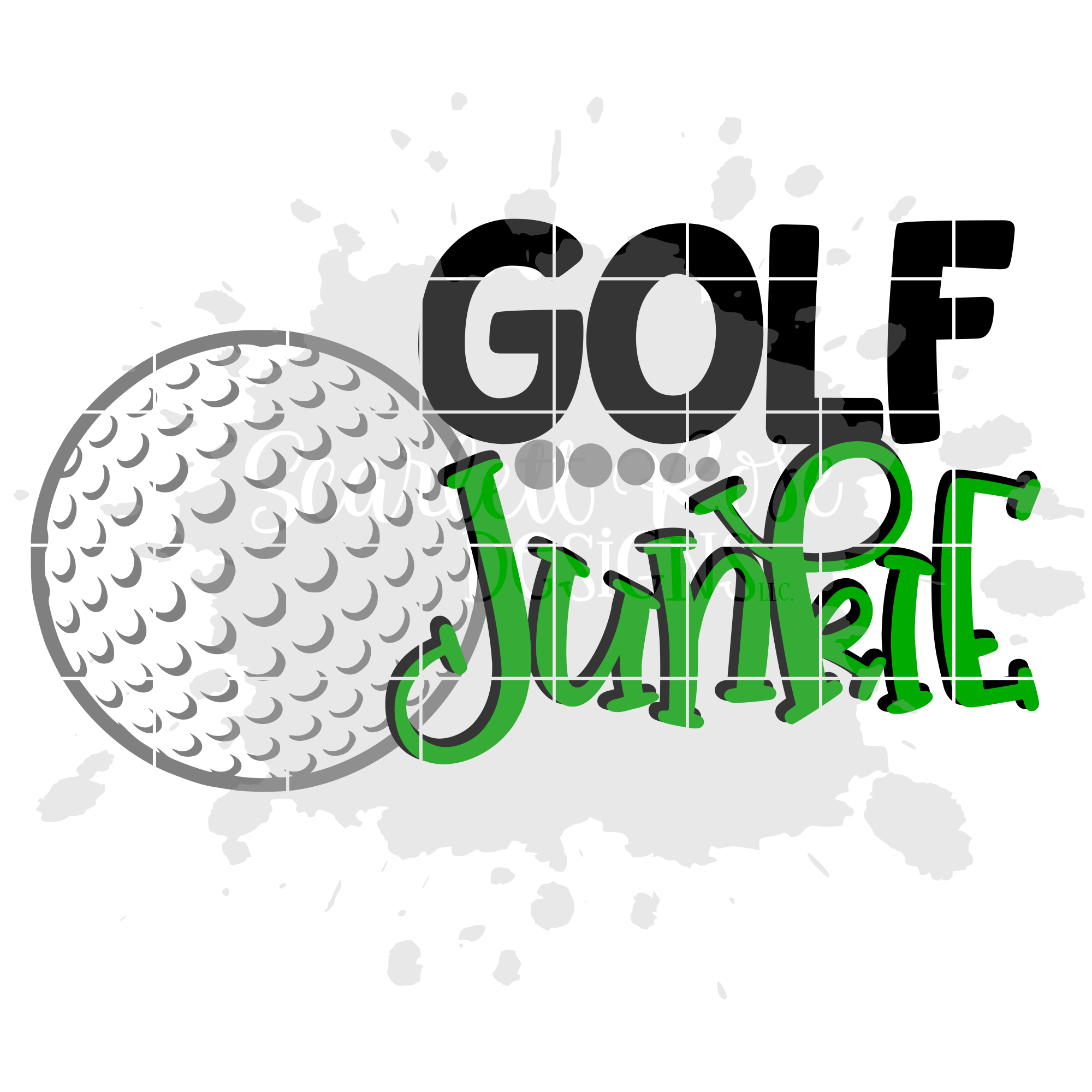 Golf Junkie Golf Svg Cut File Scarlett Rose Designs