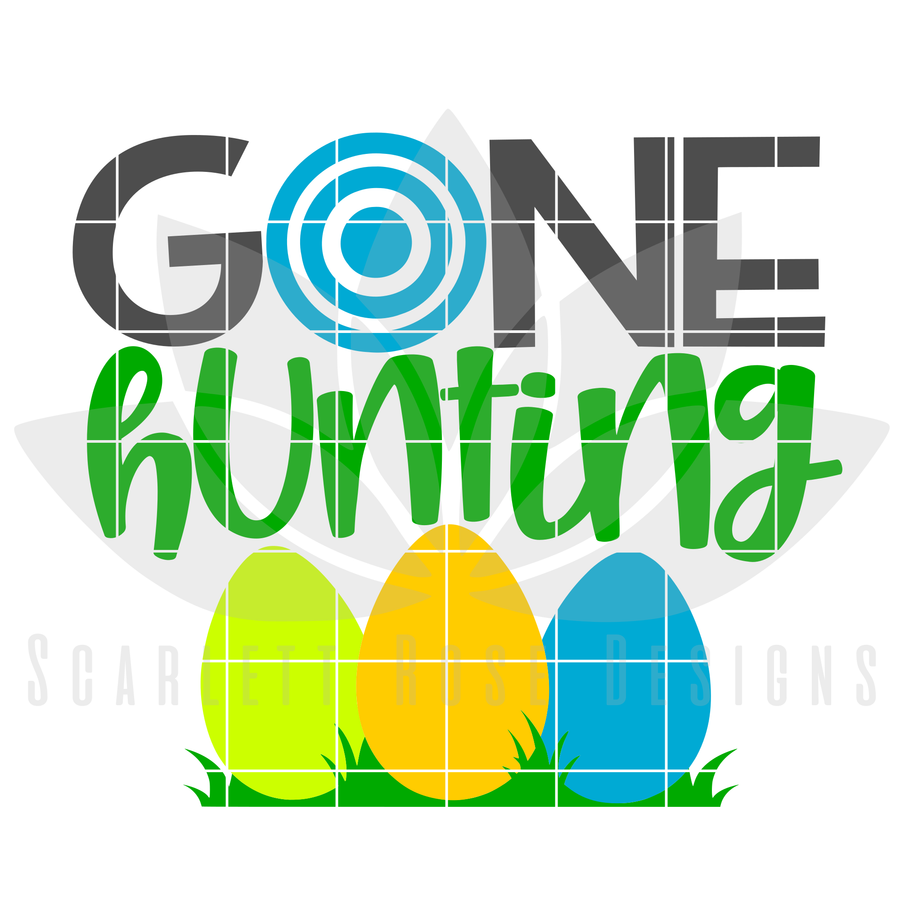 Easter SVG, Gone Hunting cut file