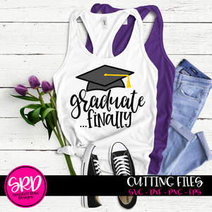 Graduate Finally - Graduation Cap SVG
