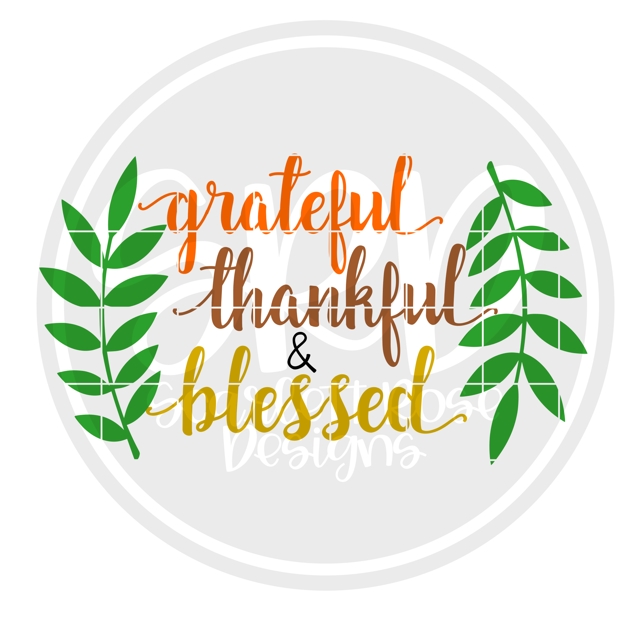 Thanksgiving Fall Wreath Svg Grateful Thankful And Blessed Scarlett Rose Designs