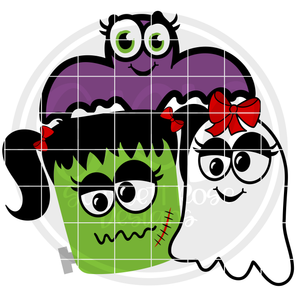 Halloween Girls SVG
