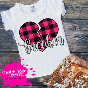Heart Breaker - Plaid (Girl) SVG