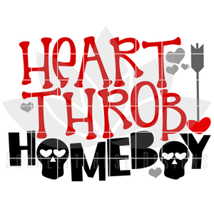 Valentine's Day SVG, DXF, Heart Throb Homeboy cut file