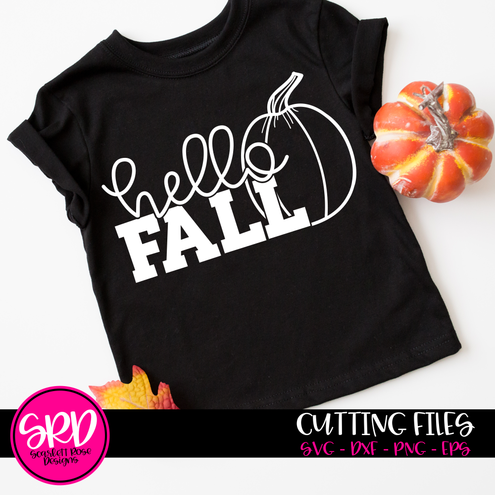 Hello Fall - Black SVG