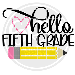 Hello Fifth Grade SVG - Color