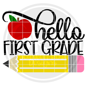 Hello First Grade SVG - Apple Color