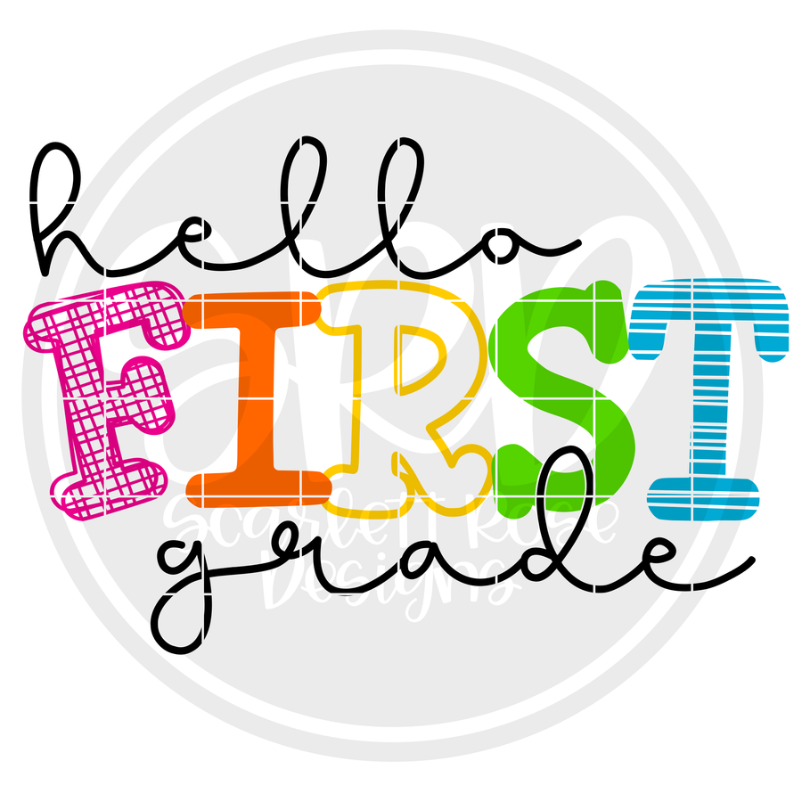 Hello First Grade - Pattern SVG