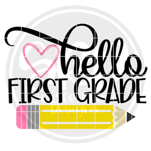 Hello First Grade SVG - Color