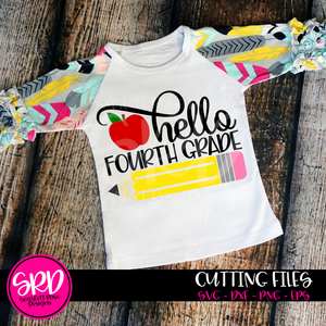 Hello Fourth Grade SVG - Apple Color