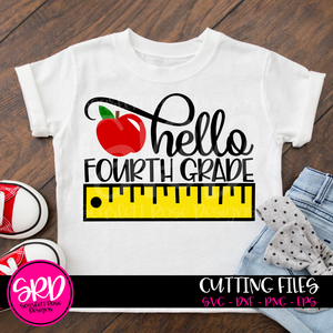 Hello Fourth Grade SVG - Ruler Color
