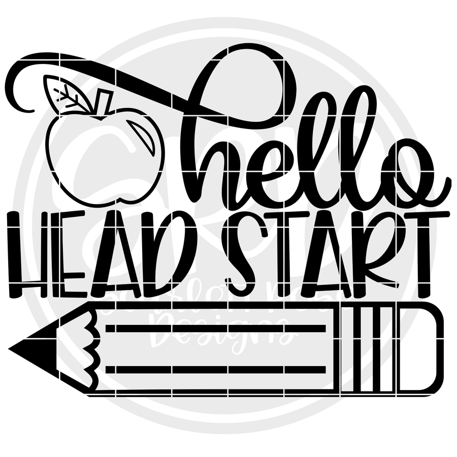 Hello Head Start SVG - Apple (One Layer)