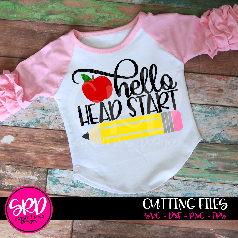 Hello Head Start SVG - Apple Color