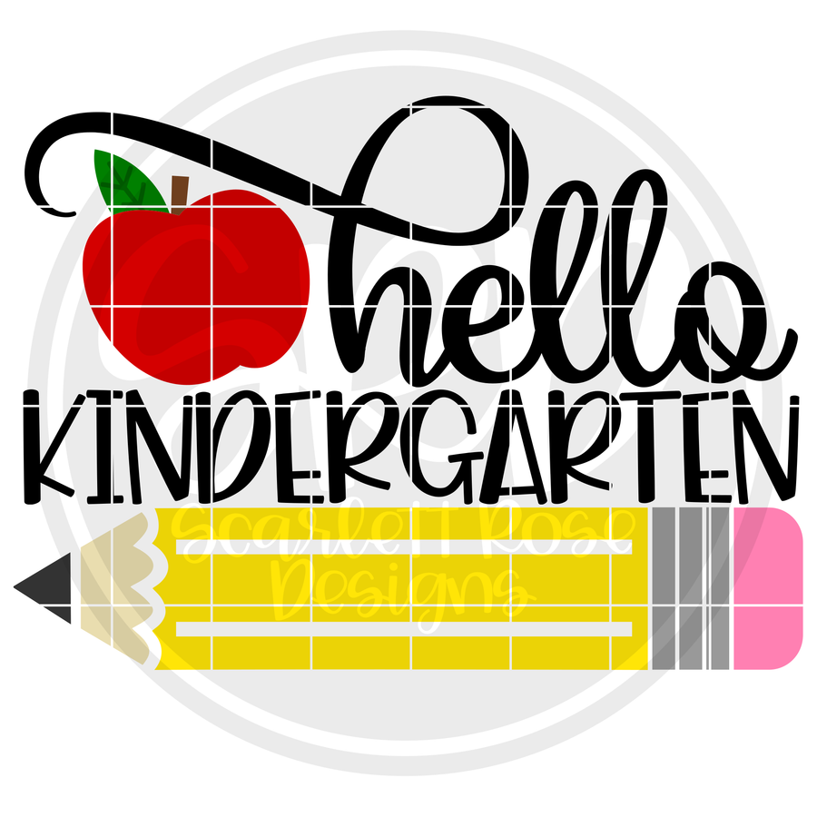 Hello Kindergarten SVG - Apple Color