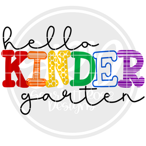 Hello Kindergarten - Pattern SVG