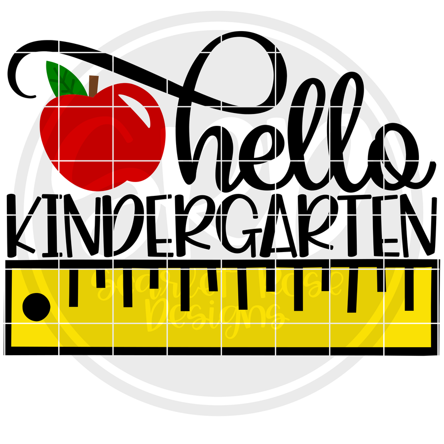 Hello Kindergarten SVG - Ruler Color