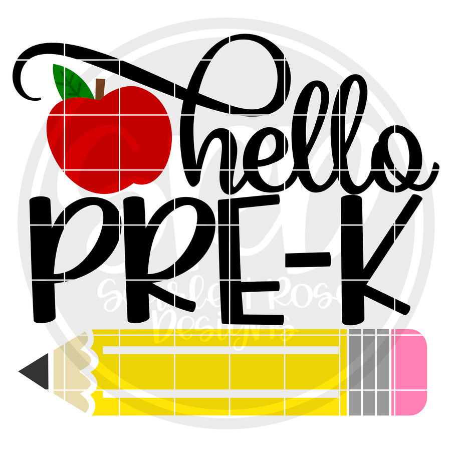 Hello Pre-K SVG - Apple Color