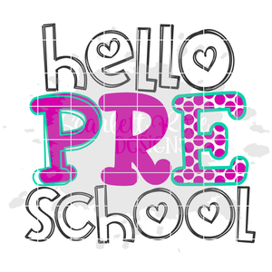 Hello Preschool SVG