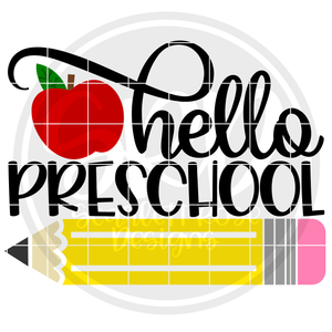 Hello Preschool SVG - Apple Color