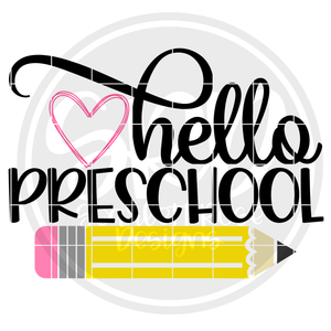 Hello Preschool SVG - Color