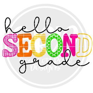 Hello Second Grade - Pattern SVG