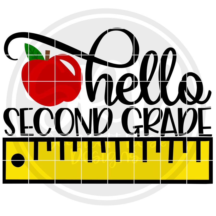Hello Second Grade SVG - Ruler Color