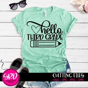 Hello School SVG Bundle - Black