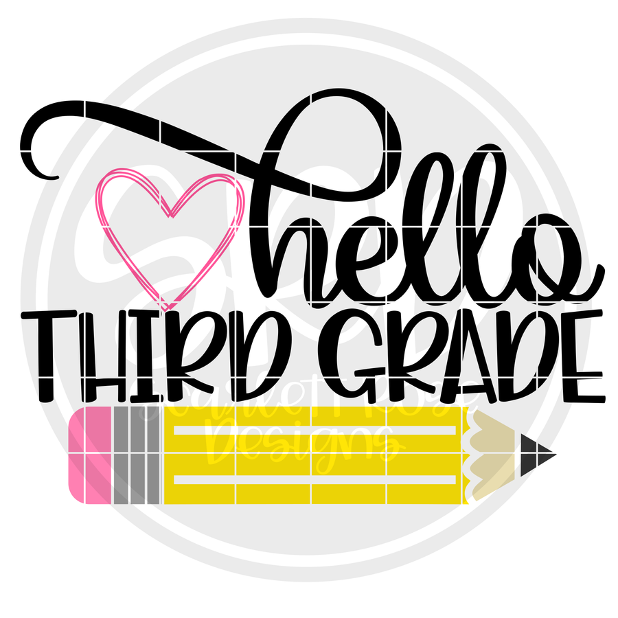 Hello Third Grade SVG - Color