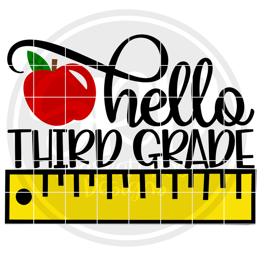Hello Third Grade SVG - Ruler Color